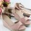 รองเท้าส้นเตารีดรัดข้อ (สีชมพู) thumbnail 1
