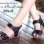 รองเท้าแตะรัดส้น สายคาดหน้าแต่งเข็มขัด (สีดำ) thumbnail 2