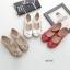 รองเท้าคัทชูเพื่อสุขภาพ หัวกลม แต่งดอกไม้ (สีแดง) thumbnail 4