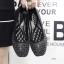 รองเท้าคัทชูส้นเตี้ย หัวตัด ลายฉลุ (สีดำ) thumbnail 6