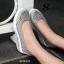 รองเท้าผ้าใบทรงคัชชู สไตล์สุขภาพ (สีเทา ) thumbnail 5