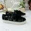 รองเท้าผ้าใบลำลอง สลิปออน ลายลูกไม้ (สีดำ ) thumbnail 5