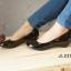 รองเท้าคัทชูหัวมน งานหนังแก้ว (สีดำ ) thumbnail 2