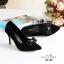 รองเท้าคัทชูหัวแหลม ส้นสูง แต่งโบว์ (สีดำ ) thumbnail 5