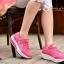 รองเท้าผ้าใบเสริมส้น ผ้าตาข่ายบุนวม (สีชมพู ) thumbnail 4