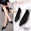 รองเท้าคัชชูหัวแหลม สไตล์สุขภาพ (สีดำ ) thumbnail 2