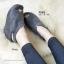 รองเท้าส้นเตารีด ทรงรัดส้น สไตล์เกาหลี (สีเทา ) thumbnail 2