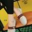 รองเท้าคัทชูส้นเตี้ย สไตล์Gucci (สีเทา ) thumbnail 3