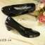 รองเท้าคัทชูหัวมน งานหนังแก้ว (สีดำ ) thumbnail 3