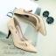 รองเท้าคัทชูส้นสูง วัสดุหนังนิ่มต่อพียู (สีแอปริคอล) thumbnail 3