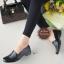 รองเท้าคัทชูสไตล์Loafer แบบสวม ทรงสุภาพ (สีดำ ) thumbnail 2