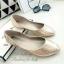 รองเท้าคัทชูส้นแบน หัวแหลม หนังวิ้งๆ (สีทอง ) thumbnail 3