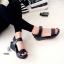 รองเท้าแตะส้นเตารีดแบบรัดข้อเท้า (สีดำ ) thumbnail 2