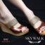 รองเท้าส้นเตารีด ไตล์CrezyStep ปั้มลายนูน (สีน้ำตาล ) thumbnail 2