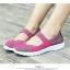 รองเท้าผ้าใบแฟชั่น ผ้ายืดสาน พื้นหักงอได้ (สีม่วง ) thumbnail 5