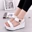 รองเท้าส้นเตารีดแบบรัดข้อ สไตล์ Korea (สีขาว ) thumbnail 4