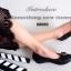 รองเท้าคัทชูส้นเตี้ย หัวตัด บุนวม (สีดำ ) thumbnail 2