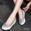 รองเท้าผ้าใบทรงคัชชู สไตล์สุขภาพ (สีเทา ) thumbnail 3