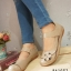 รองเท้าคัทชูแฟชั่น สไตล์ญี่ปุ่น (สีแอปปริคอท )