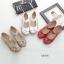 รองเท้าคัทชูเพื่อสุขภาพ หัวกลม แต่งดอกไม้ (สีขาว) thumbnail 4