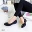 รองเท้าคัทชูส้นเตี้ย หัวตัด เย็บลายตาราง (สีดำ ) thumbnail 2