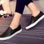 รองเท้าผ้าใบแฟชั่น แบบสวม ทรงนินจา (สีดำ ) thumbnail 5