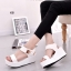 รองเท้าส้นเตารีดแบบรัดข้อ สไตล์ Korea (สีขาว ) thumbnail 3