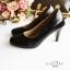 รองเท้าคัทชูส้นสูง หัวมน ทรงสุภาพ (สีดำ ) thumbnail 6