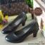 รองเท้าคัทชูส้นสูง หน้าเรียว ทรงสุภาพ (สีดำ ) thumbnail 3
