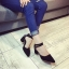 รองเท้าคัทชูส้นสูง รัดข้อเท้า แต่งหมุด (สีดำ ) thumbnail 6