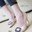 รองเท้าคัทชูส้นสูง หัวแหลม แต่งคริสตัล (สีแอปปริคอท )