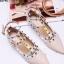 รองเท้าคัทชูสีครีม VALENTINO WATERCOLOR ROCKSTUD Flat Shoes งานหมุดวาเลนเกรดดี รัดข้อเท้าการันตีด้วยภาพถ่ายสินค้าจริงค่า แกะแบบของแท้ วัสดุหนังpuส้นแบนสายแบบเกี่ยวปรับได้ thumbnail 2