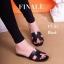 รองเท้าแตะส้นเตี้ย สไตล์H (สีดำ ) thumbnail 2