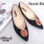 รองเท้าส้นแบนหัวแหลม สไตล์ Manolo-Blahnik (สีดำ ) thumbnail 3