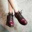 รองเท้าบูทสไตล์เท่ห์ แนววินเทจ (สีไวน์) thumbnail 6