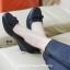 รองเท้าคัทชูส้นเตารีด หัวตัด ทรงสุภาพ (สีดำ ) thumbnail 4
