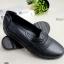 รองเท้าคัทชู ทรงLoafer หน้าหยัก (สีดำ )