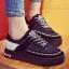รองเท้าผ้าใบ Korea-style ผ้าแคนวาส (สีดำ )
