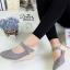 รองเท้าคัทชูส้นเตารีด ทรงหัวแหลม (สีเทา )