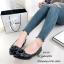 รองเท้าคัทชู หัวแหลม แต่งกุหลาบ (สีดำ ) thumbnail 2