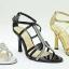 รองเท้าส้นสูงรัดส้น สไตล์YSL (สีทอง ) thumbnail 4