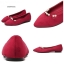 รองเท้าคัทชู หัวแหลม แต่งมุก (สีแดง) thumbnail 6