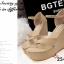 รองเท้าส้นเตารีดรัดส้น แบบคีบ หนังสักหราดนิ่ม (สีแอปปริคอท ) thumbnail 3