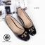 รองเท้าคัทชูส้นเตี้ย สไตล์ToryBruch (สีดำ) thumbnail 4