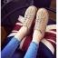 รองเท้าผ้าใบ สไตล์Dr.matens หนังนิ่ม (สีกากี ) thumbnail 2