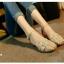 รองเท้าส้นเตี้ย รัดส้น หน้าสาน (สีครีม ) thumbnail 2