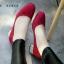 รองเท้าคัทชู ส้นเกลี่ยมเก๋ๆ (สีแดง ) thumbnail 3