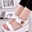 รองเท้าส้นเตารีดแบบรัดข้อ สไตล์ Korea (สีขาว ) thumbnail 1
