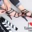 รองเท้าส้นสูง ทรงส้นเข็มรัดข้อ สไตล์ valentino (สีดำ) thumbnail 7