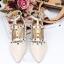 รองเท้าคัทชูสีครีม VALENTINO WATERCOLOR ROCKSTUD Flat Shoes งานหมุดวาเลนเกรดดี รัดข้อเท้าการันตีด้วยภาพถ่ายสินค้าจริงค่า แกะแบบของแท้ วัสดุหนังpuส้นแบนสายแบบเกี่ยวปรับได้ thumbnail 4
